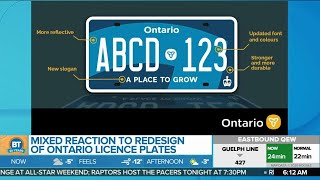 There Are Some Mixed Reactions To The Redesigned Ontario Licence Plates