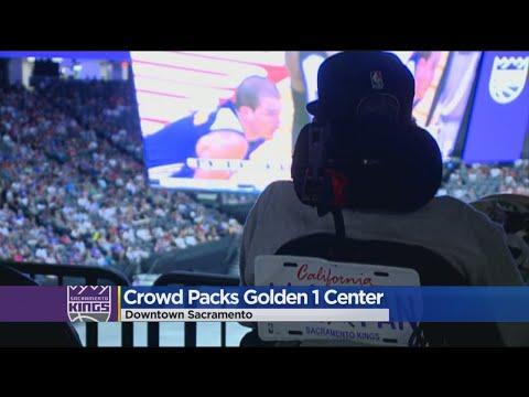 Sacramento Kings Fans Gather At Golden 1 Center For Vegas Game