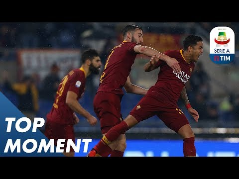 Justin Kluivert Scores First Serie A Goal | Top Moments | Serie A