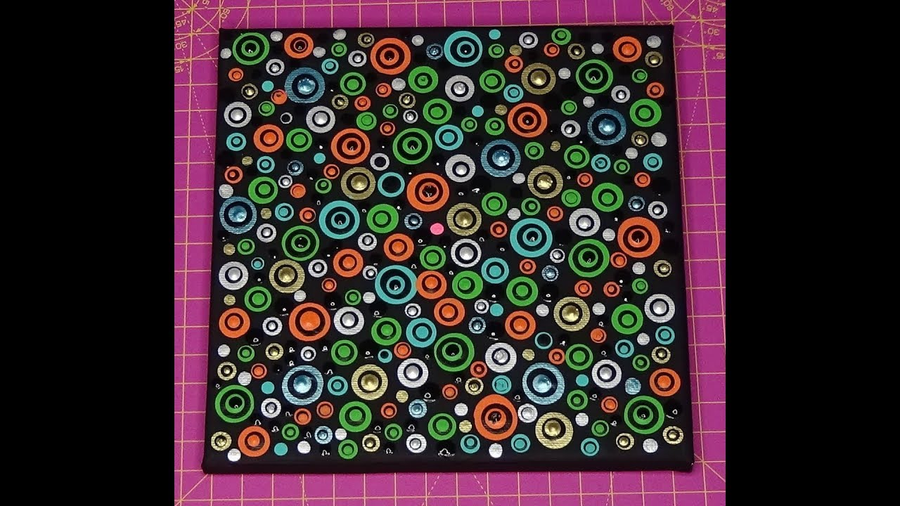 Dot painting with Artist Janette Oakman 42 Suitable For Beginners  Pointillism Abstract