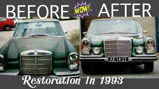 classic Mercedes Benz Restoration 🚓 moss green colour # W 109 # 300 SEL