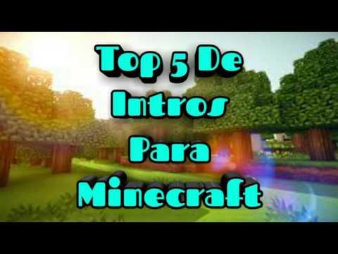 Top 5 De Intros Sin Texto Para Minecraft | Link De Descarga👌