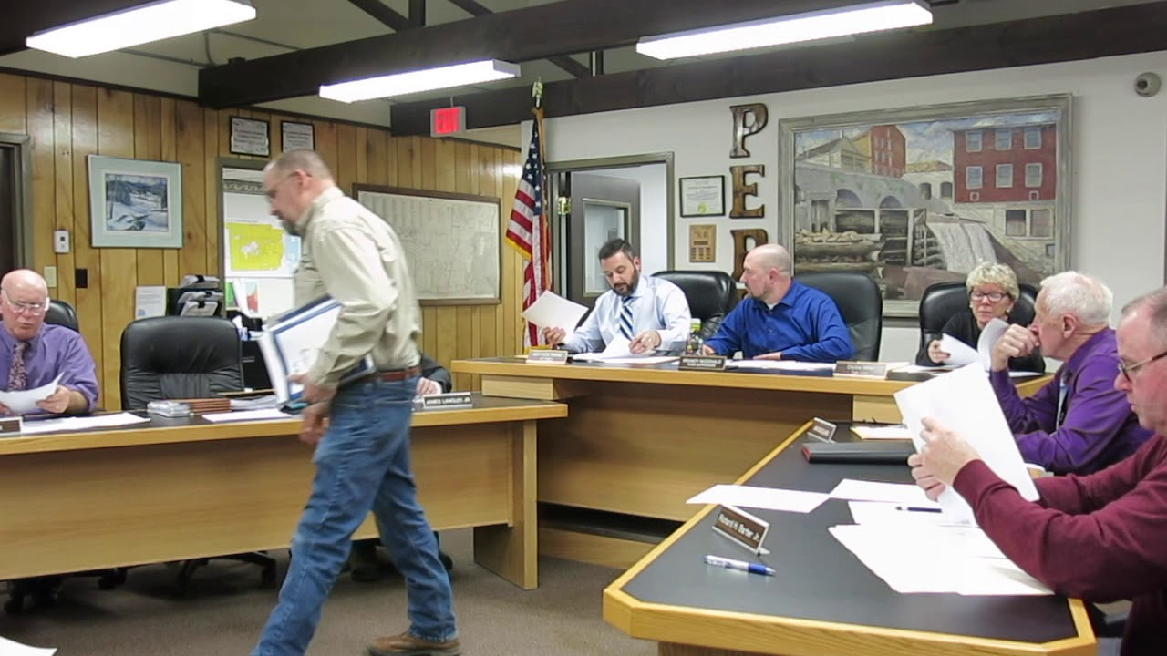 Peru Town Board Meeting  2-25-19