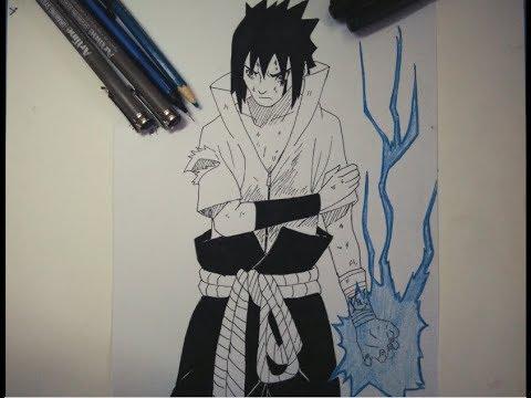 Drawing Sasuke Uchiha With Chidori