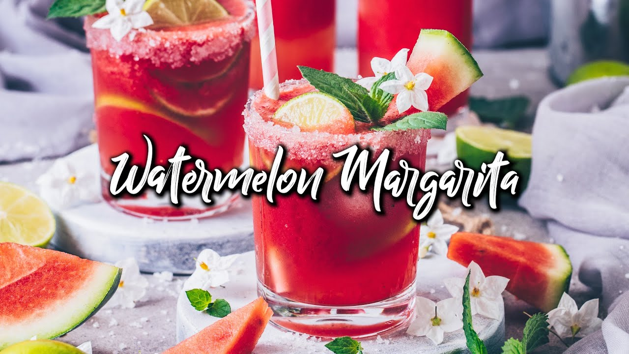 Watermelon Margarita (Frozen Slush Cocktail) * Recipe