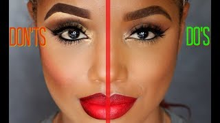 These are some of my opinions of makeup mistakes to avoid, with dem...