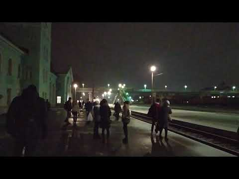 Прибытие электрички на станцию Бежица. Брянск.