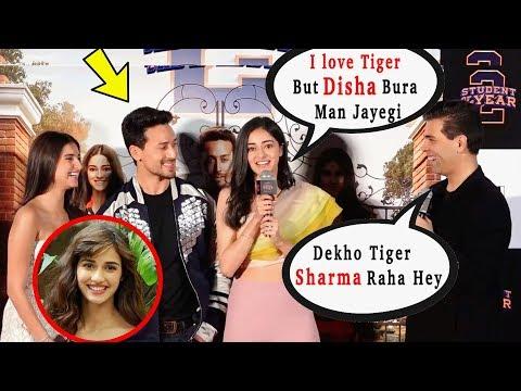 Karan Johar And Ananya Pandey Making Fun And Laugh On Tiger Shroff