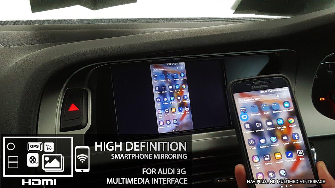 audi 3g mmi hd smartphone mirroring demonstration by. Black Bedroom Furniture Sets. Home Design Ideas