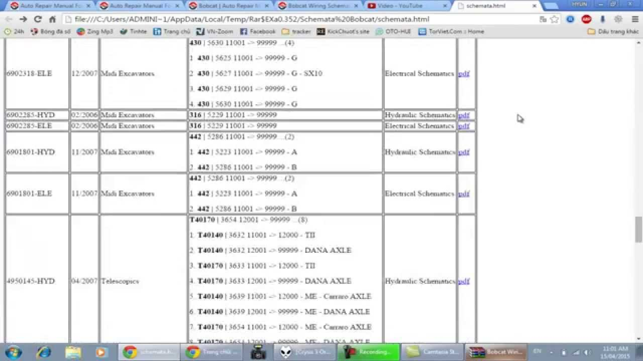 bobcat wiring schematics autorepairmanuals [ 1280 x 720 Pixel ]