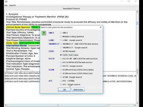 Clinical Research e-Protocol Annotator