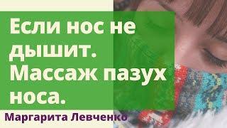 Если нос не дышит. Массаж пазух. Маргарита Левченко.(http://levchenko.pro/ Гимнастика - массаж пазух для устранения заложенности носа. Иногда люди годами не могут решить..., 2013-10-28T17:00:20.000Z)