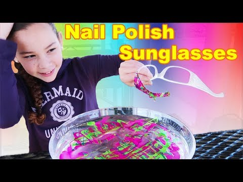 DIY Nail Polish Sunglasses! (Haschak Sisters)
