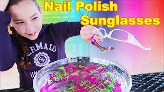 Download DIY Nail Polish Sunglasses! (Haschak Sisters) Mp3 and Videos