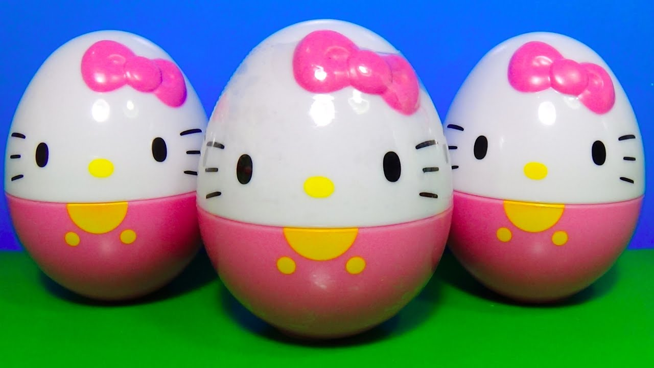 3 Hello Kitty Surprise Eggs Hello Kitty For Baby