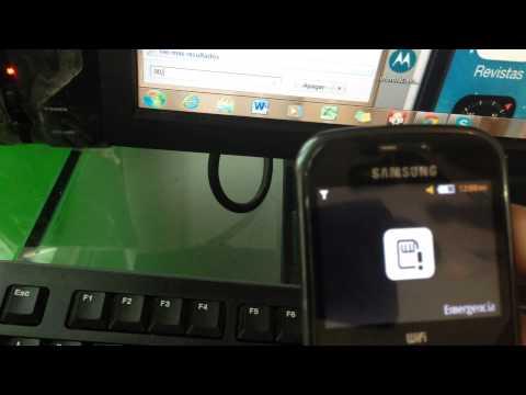 Desbloqueo del codigo de seguridad samsung GT-S3350