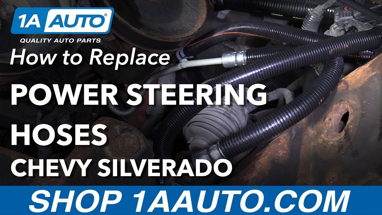 how to replace power steering hoses 07 13 chevy silverado [ 1280 x 720 Pixel ]