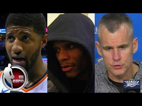 Paul George, Russell Westbrook and Billy Donovan talk Thunder comeback | ESPN