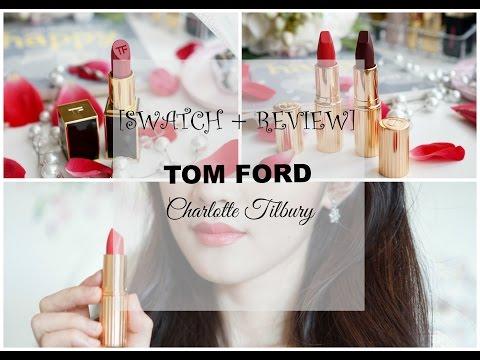 ♡ SWATCH son Tom Ford(Plum Lush) + Charlotte Tilbury(Lost Cherry; Glastonberry)♡   Mattalehang