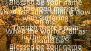 Blessed be Your name hillsong