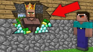 Minecraft NOOB vs PRO: WHY THIS VILLAGER KING HIDE ALL TREASURE FROM NOOB? Challenge 100% trolling