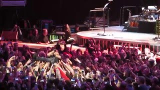 Bruce Springsteen crowd surfs @ United Center, Chicago 1/19/2016