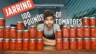 Canning 100 Pounds of Tomatoes with an Italian Pro Cook