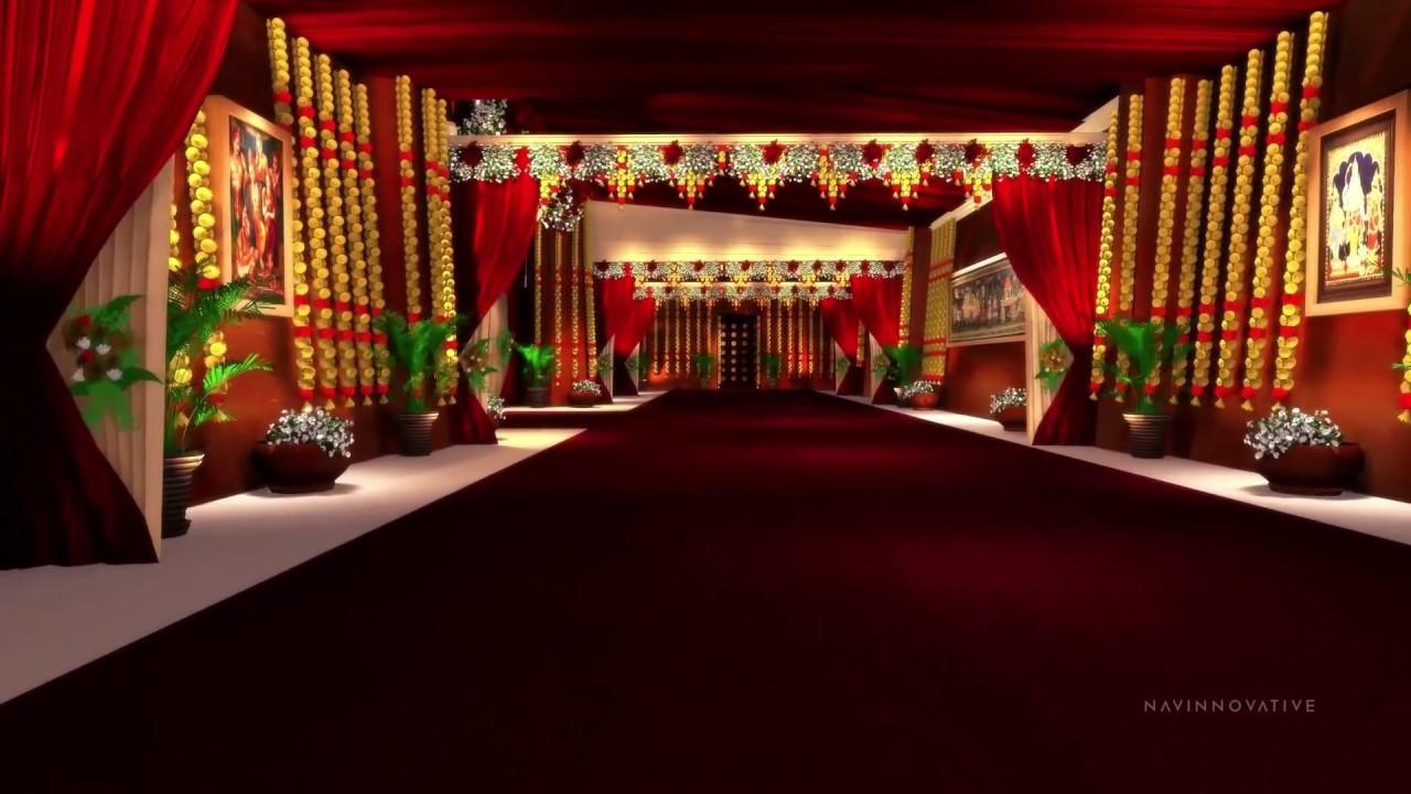 3D Wedding Set Design (walk-through) - YouTube