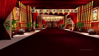 3D Wedding Set Design (walk-through)