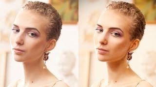 """speed art photoshop cs6 """"Ретушь женского портрета"""" №6"""