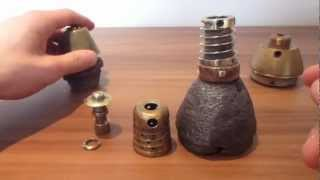ww1 french beehive 75mm artillery shell fuse breakdown