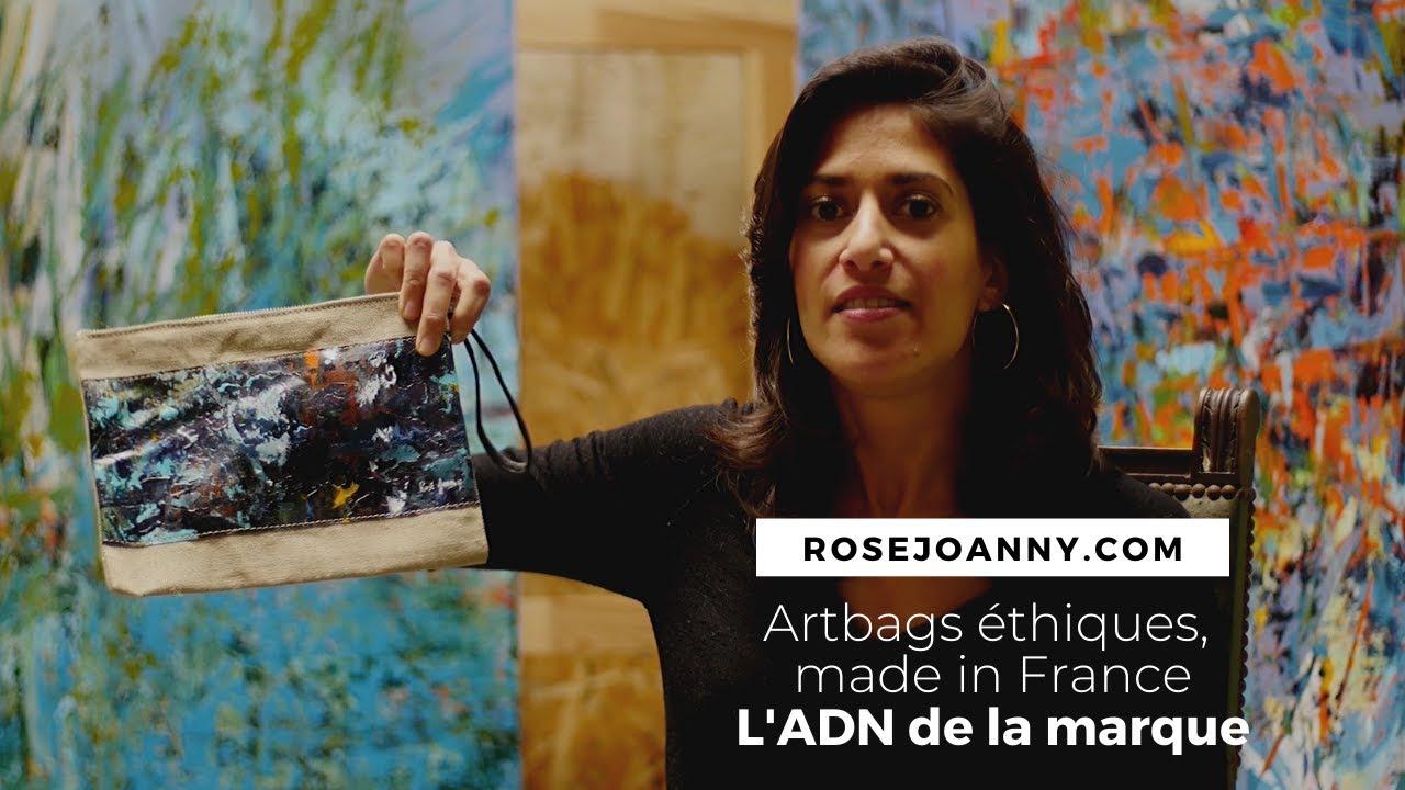 Vidéo de présentation de la marque de sacs éthiques Rosé Joanny