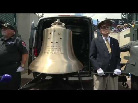 Tolling the Honor Bell at Coors Field for Military Appreciation Day