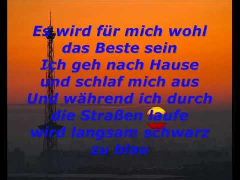 Schwarz zu Blau-peter fox lyrics