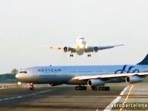 Plane Landing In Spain Avoids Collision With Another Plane On Runway