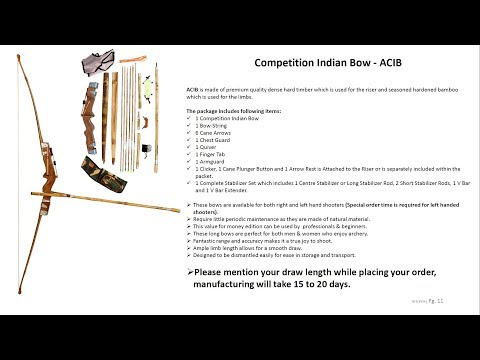 Competition Indian Bow - ACIB