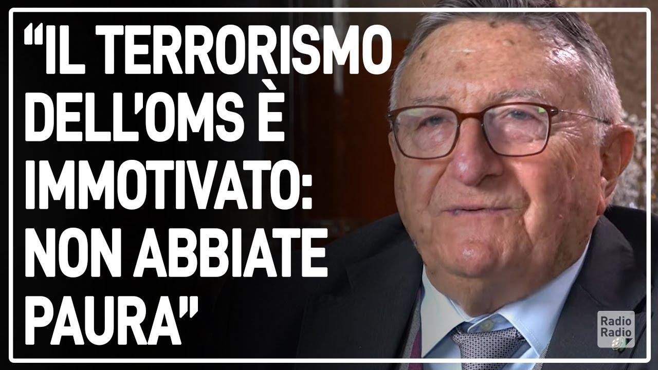 """TARRO SMENTISCE L'OMS ► """"Le loro dichiarazioni sono terrorismo. Ecco perché non dobbiamo aver paura"""""""