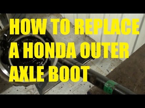 How to replace a outer CV axle boot on a Honda.