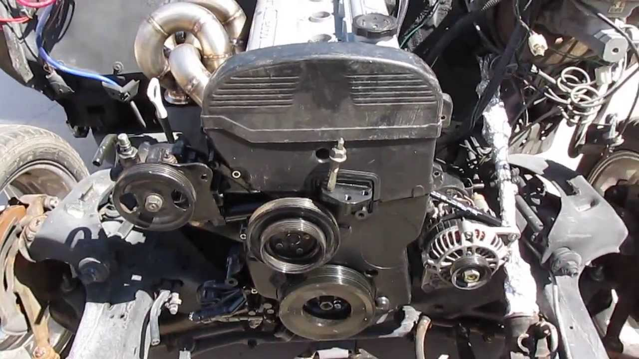RWD 4G63T Engine Is Finally Set In!!! Part13