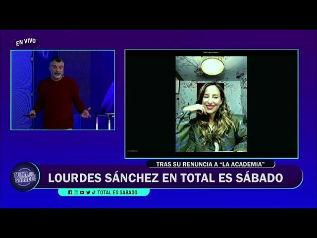 """Lourdes Sánchez contó por qué Chato y ella se bajaron de """"La Academia"""""""