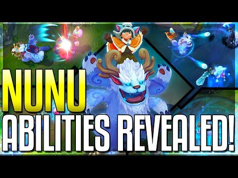 NUNU REWORK ALL ABILITIES REVEALED The Boy And His Yeti - New Champion - League of Legends