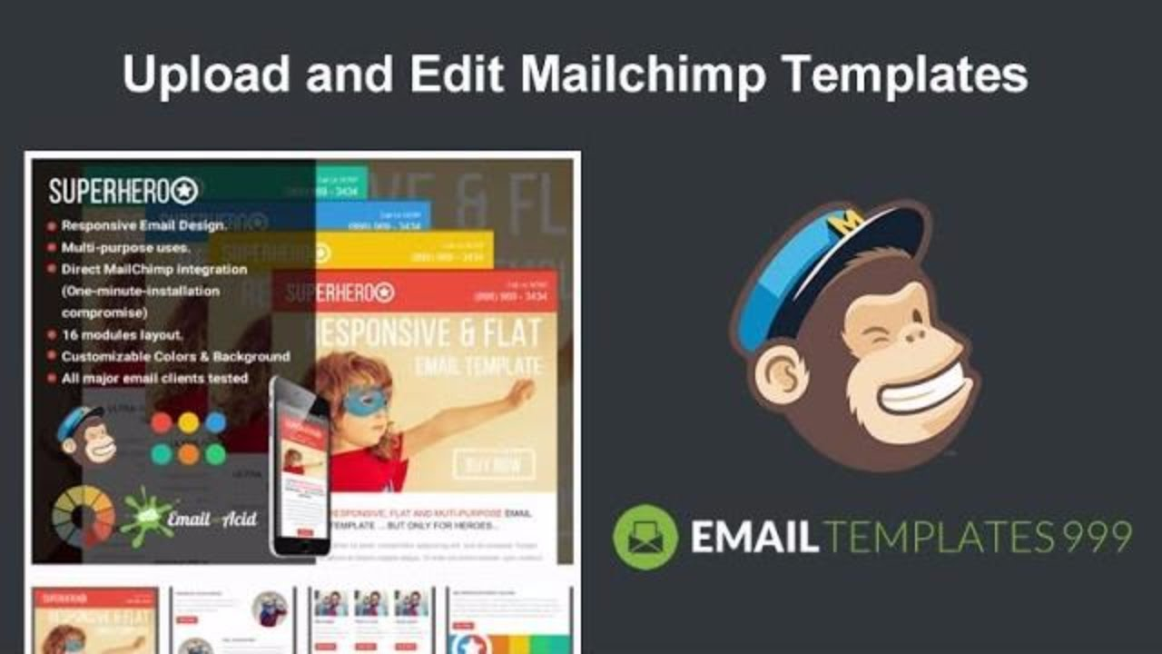 How to Upload and Edit Mailchimp Templates in LESS THAN 1 MINUTE ...