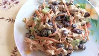 Часть1/меняем навес/очень вкусный салат(курица и фасоль)