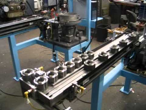 Walking Beam Indexing Conveyor By Roboshop Inc Youtube