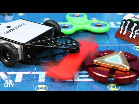 Fidget Spinners vs BattleBots + Rare Superhero Spinner Game for Kids!