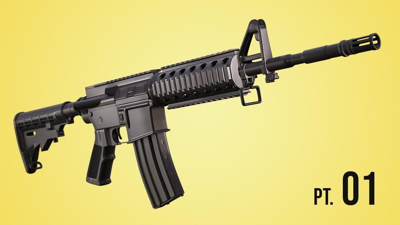 Modeling A M4 Rifle Pt 1 Blender 2 6 Tutorial Youtube