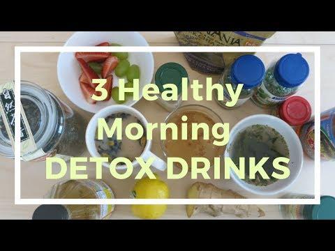 3 healthy morning drinks apple cider vinegar lemonade, ginger green tea, and Chai latte
