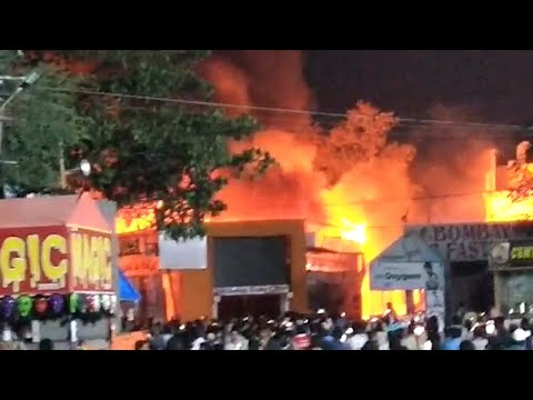 Major fire breaks out in Exhibition Grounds in Hyderabad