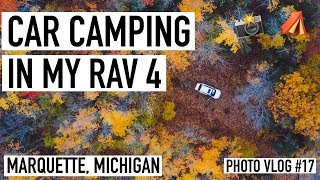 FALL CAR CAMPING IN MY SUV | MICHIGAN'S UPPER PENINSULA