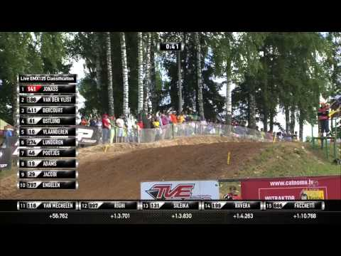 EMX125 FULL RACE 2 - Round of Latvia 2013 - Motocross